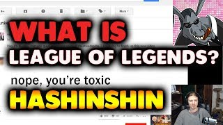 HASHINSHIN'S HONEST OPINION ABOUT LEAGUE - HIS REACTION TO DUNKEY VIDEO GAMING.