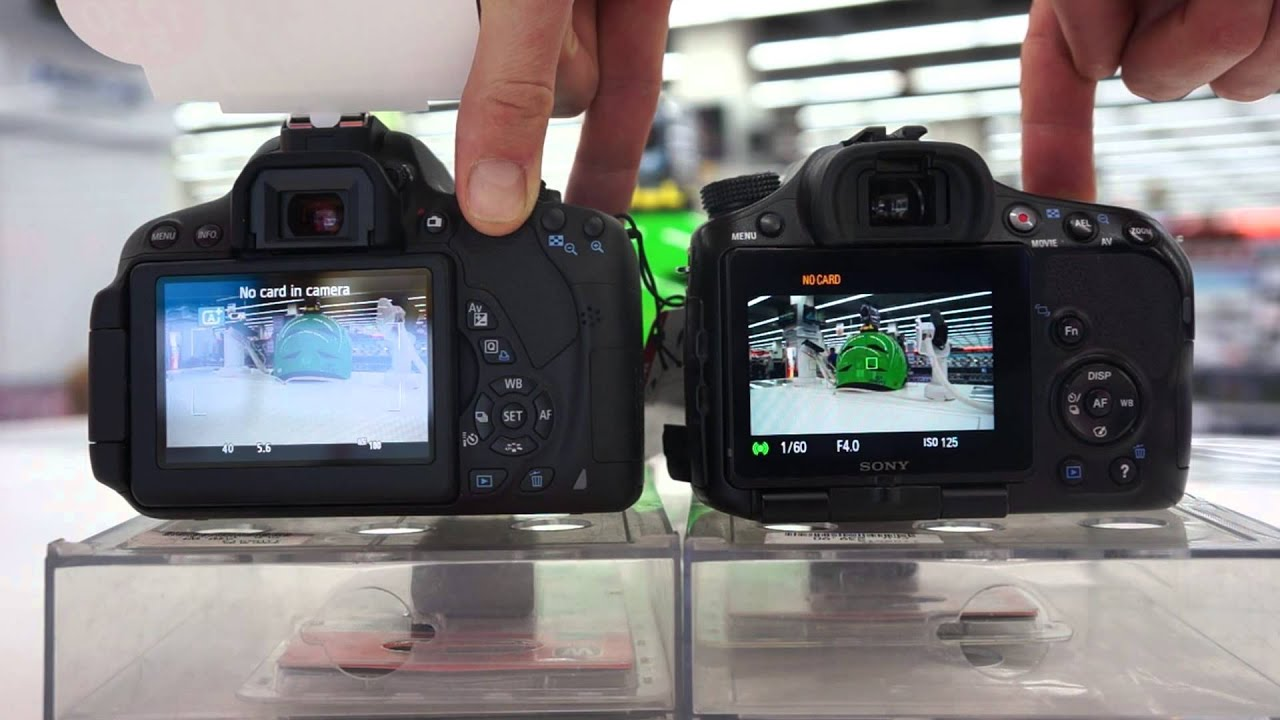 Canon T5i vs Sony a57 - 7 Reasons to buy the Sony a57 OVER the .