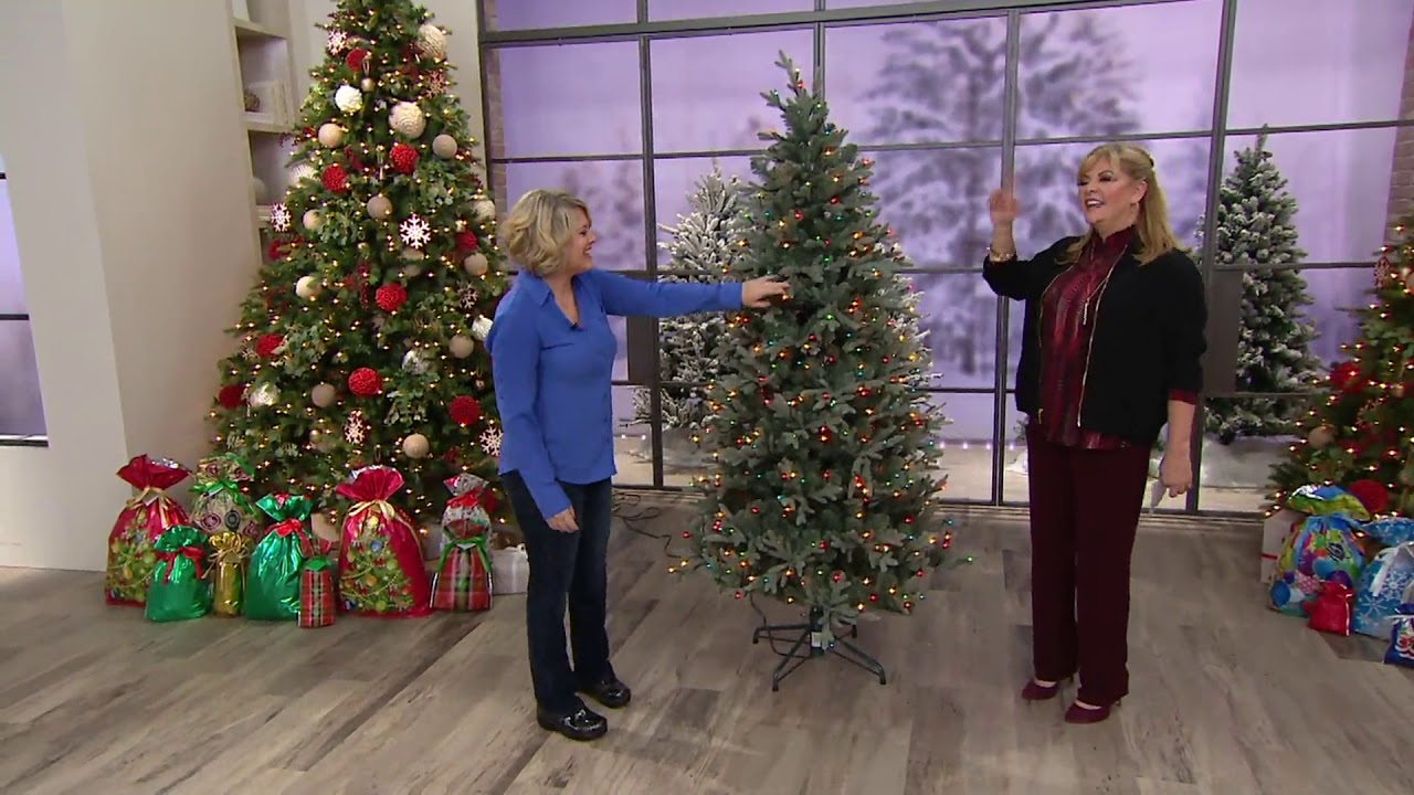 Qvc Christmas Trees.Bethlehem Lights Prelit Blue Spruce Christmas Tree On Qvc