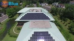Rooftop Solar Panels on Greenburgh's Town Hall in Westchester NY Installed by SunBlue Energy
