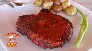 Smoked Pork Loin Chops With Apricot Bourbon Bbq Sauce Recipe