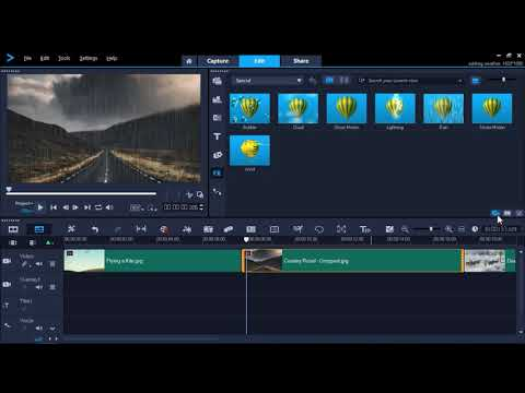 How To Add Weather Effects In VideoStudio