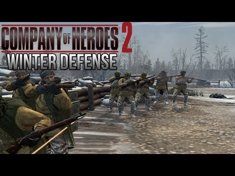Company of Heroes 2 - Winter Defense on General - Theater of War Gameplay 1/2