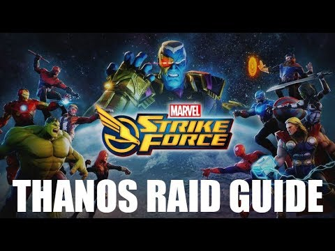 Marvel Strike Force - Lvl 35 Thanos Raid Guide & Gameplay