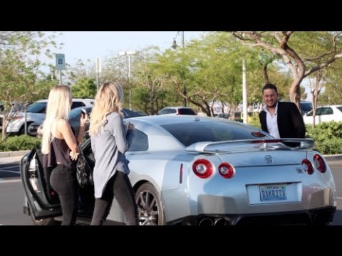 PICKING UP GOLD DIGGERS IN A GT-R! SOCIAL EXPERIMENT / PRANK! 'EXPOSED'