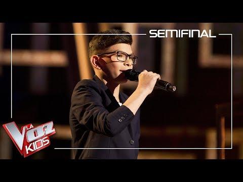 Salva Bermúdez Canta 'Solamente Tú' | Semifinal | La Voz Kids Antena 3 2019