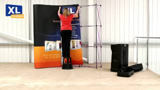 Pop up Display Stands | How to set up your 3x3 Pop up stand with counter and lights by XL Displays