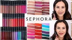 Sephora Cream Lip Stain Liquid Lipstick || REVIEW ALL 40 SHADES Lip & Arm Swatches