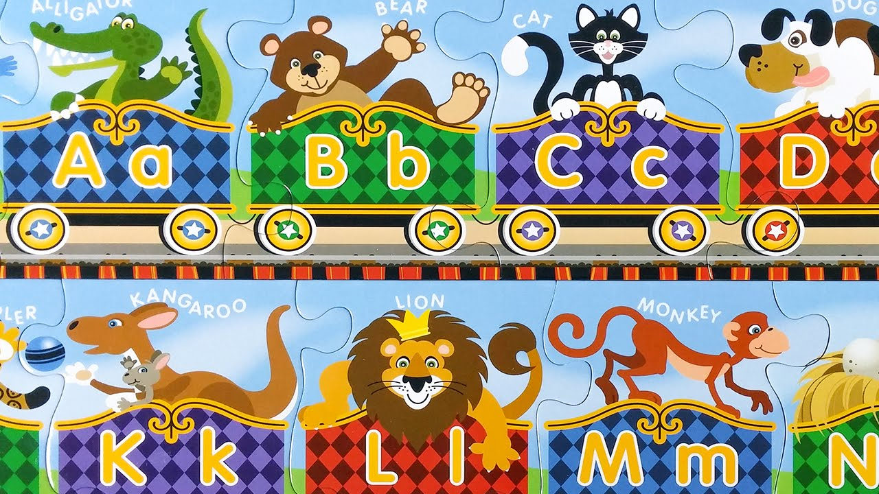 Abc Alphabet Express Colorful Puzzle Learning In English