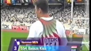 One of the best hammer throwers: Balazs Kiss