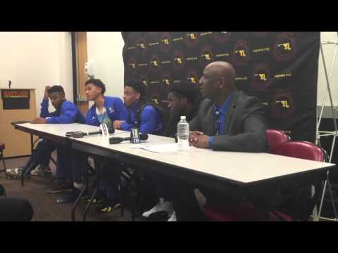 Stephen Decatur basketball press conference Class 3A state boys
