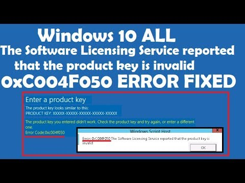 microsoft says product key invalid