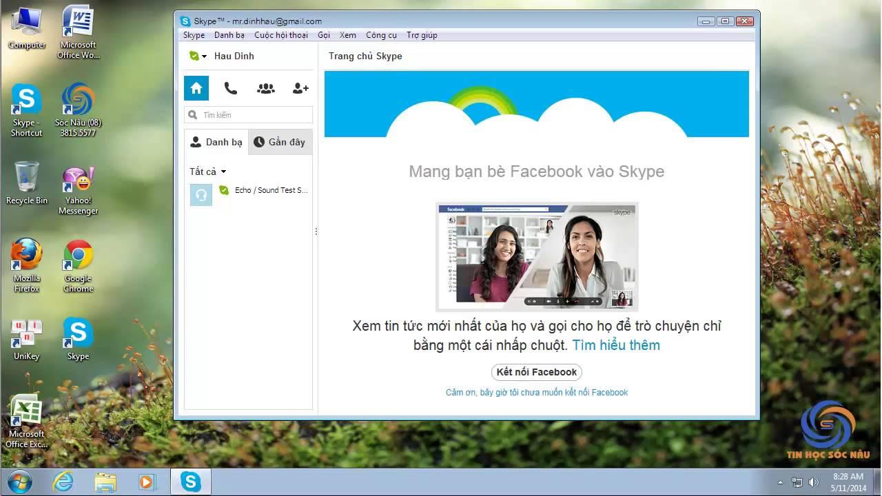 Cách tắt quảng cáo dưới danh bạ trong Skype