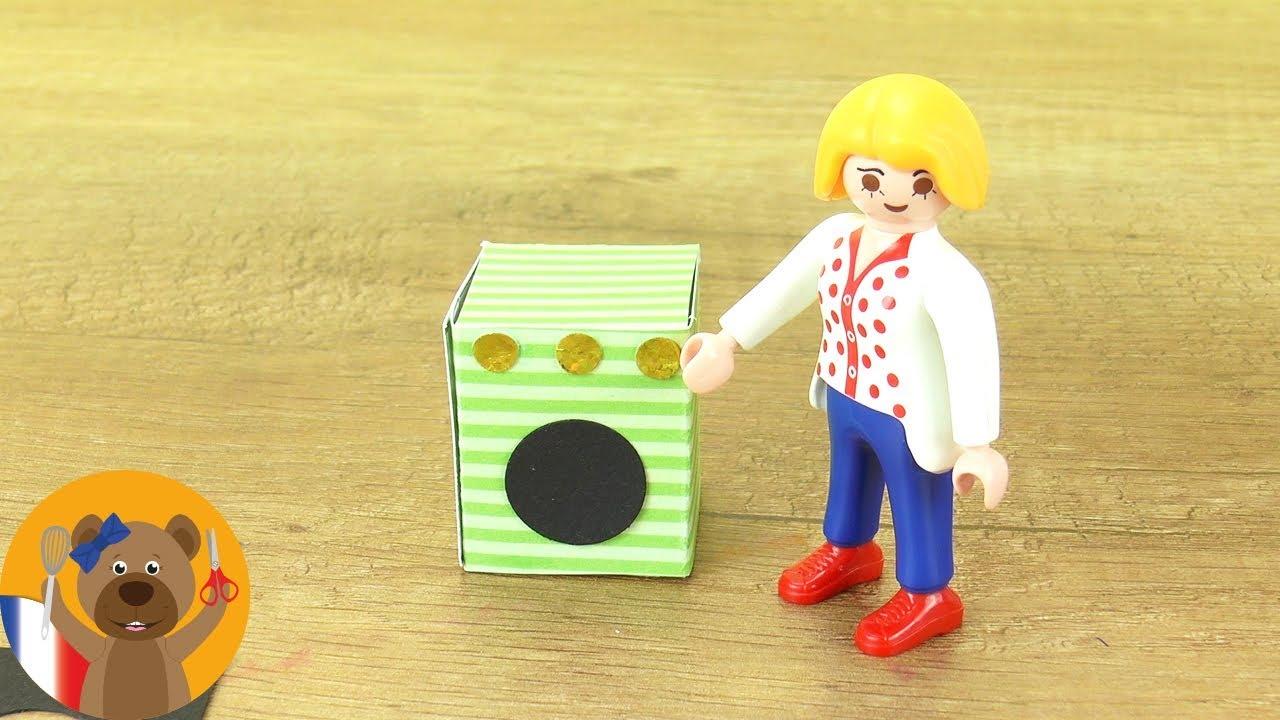 id e bricolage playmobil machine laver pour la famille brie machine laver diy youtube. Black Bedroom Furniture Sets. Home Design Ideas