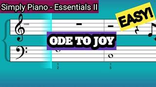 Simply Piano| Ode To Joy |Essentials II |Piano Tutorial