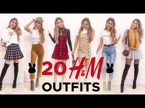 20 H&M outfits UNDER $50 | FALL TRY-ON HAUL & REVIEW