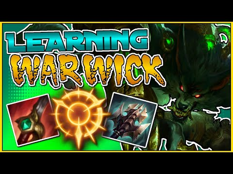 CARRYING WHILE LEARNING WARWICK JUNGLE (HOW TO PLAY WARWICK JG, GUIDE BUILD+RUNES) League of Legends