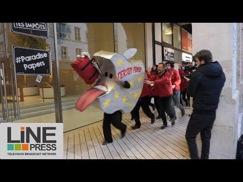 Nouvelle action d'ATTAC contre Apple / Paris - France 10 novembre 2017