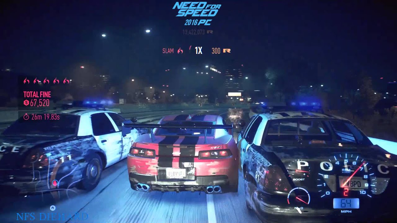 need for speed pc 2016 police pursuit youtube. Black Bedroom Furniture Sets. Home Design Ideas
