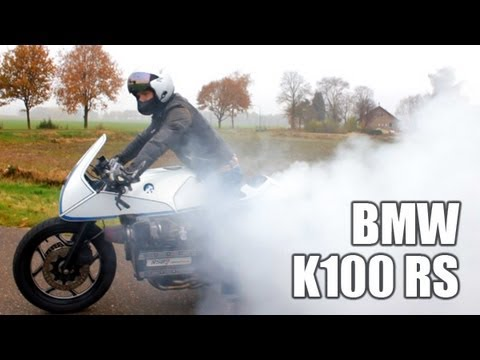 BMW K100 RS | Custom Termignoni exhaust | Sound check & burnout