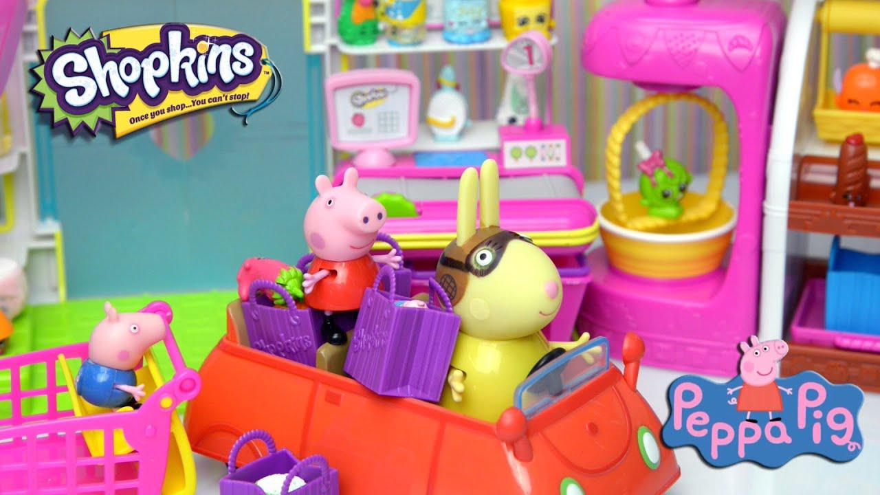 Peppa Pig Video Peppa and George go Shopkin Shopping 2015 Kids