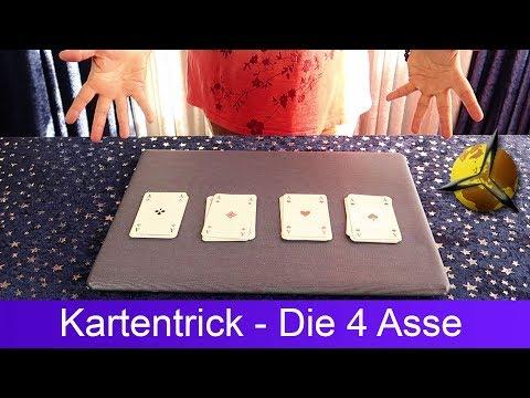 Kartentrick für Kinder: Die 4 Asse