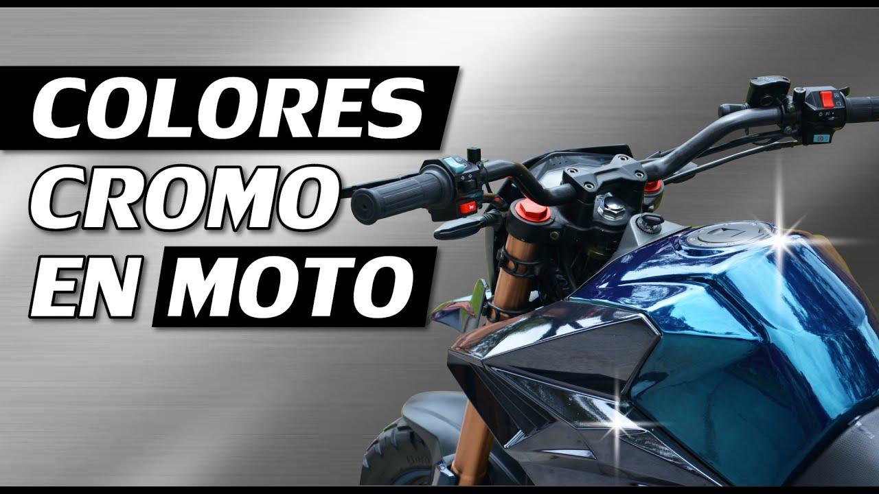 Cromo Azul y Cromo Negro en Motocicleta: tanque y ...