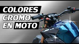 Download lagu Cromo Azul y Cromo Negro en Motocicleta:  tanque y plasticos