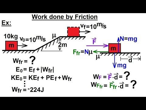Physics - Mechanics:Work, Energy, and Power Examples (3 of 27) Work done by Friction