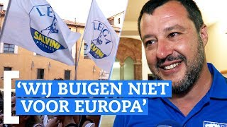 Italiaanse politicus Matteo Salvini: 'Wij buigen niet voor Europa'