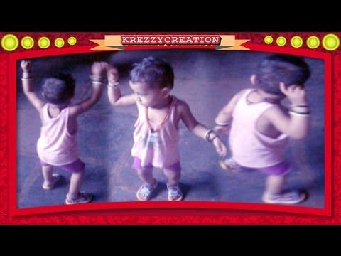 1 Year Old Baby DANCING with RHYTHM on Mazyavar Jiv Lavnara Asa Navra Pahije Mala Marathi Song