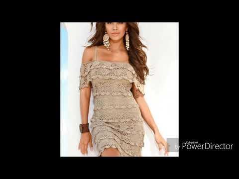 Платье крючком воланами схема
