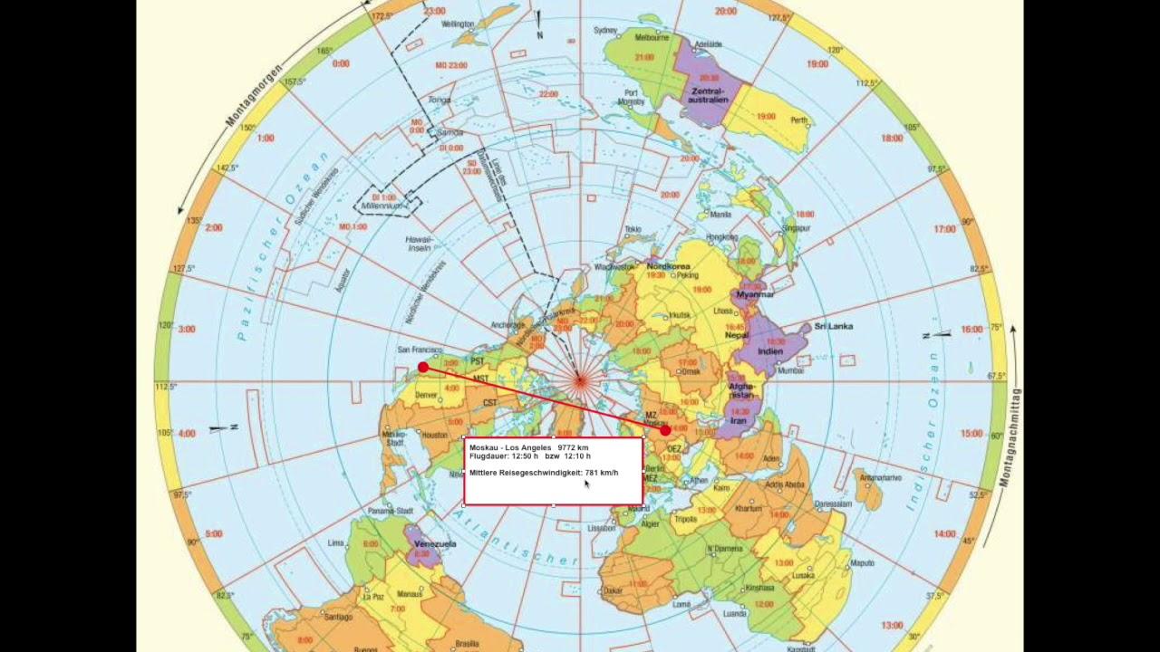 Flugrouten Karte.Flugrouten Beweisen Die Flache Erde Oder Doch Nicht