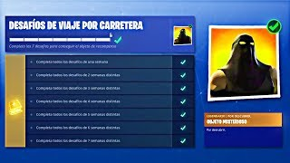 ALL COMPLETED ROAD TRAVEL CHALLENGES IN FORTNITE! - FREE SKIN UNLOCKED