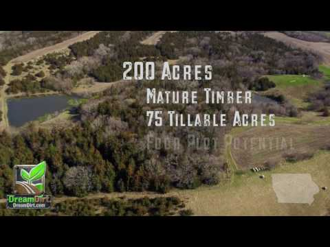 Hunting Land For Sale in Iowa 200 Acres Adams County Iowa