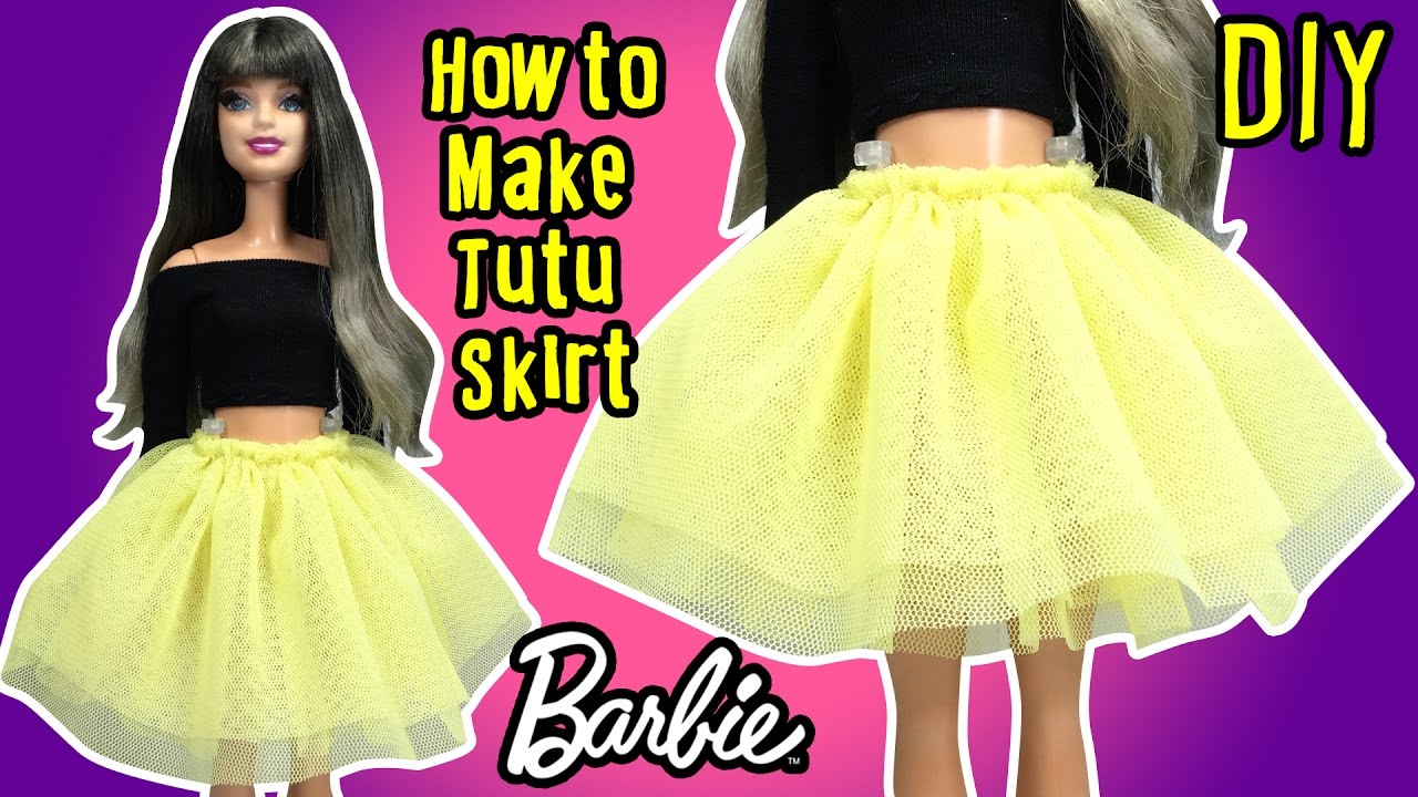 335bf0ee9f77 DIY - How to Make Barbie Doll Tutu Skirt - Doll Clothes Tutorial ...