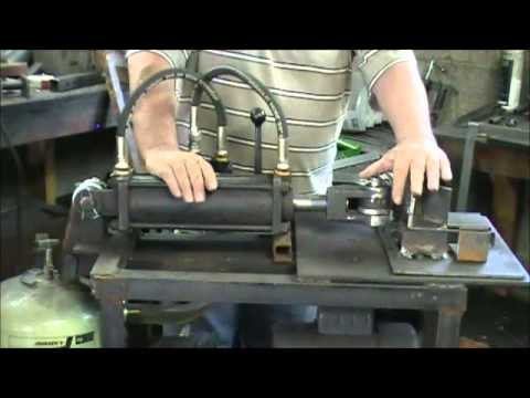 Demonstraing My Homemade Metal Bending Press Part 1 Youtube