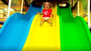 Nadia play Indoor Playground Fun activities with Family Fun