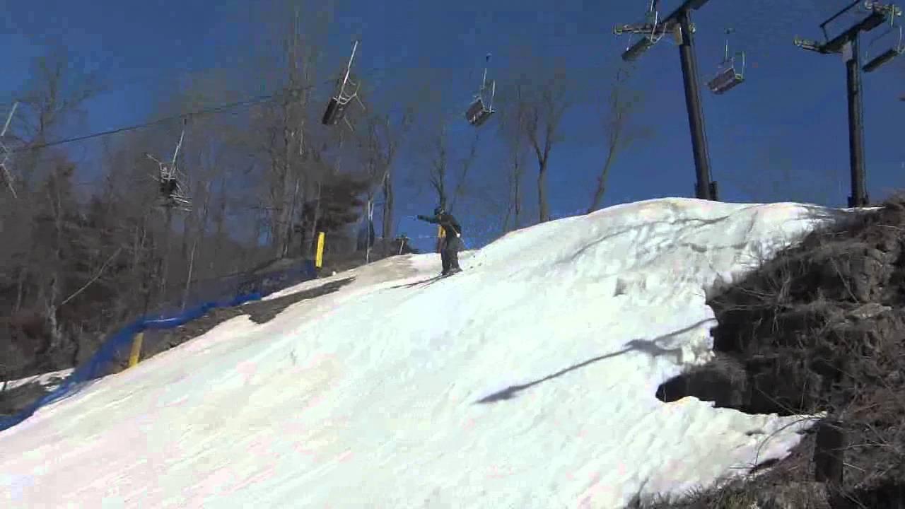 funny ski fail on mineshaft chestnut mountain - youtube