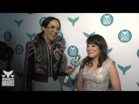 with Lucy DeVito on the red carpet of the 7th Annual Shorty Awards