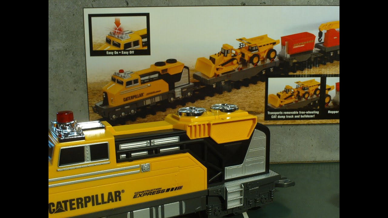 video for children toy trains caterpillar construction. Black Bedroom Furniture Sets. Home Design Ideas