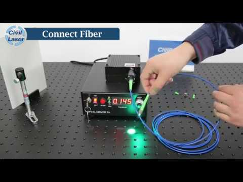 505nm 200mW Green Fiber Coupled Laser Video