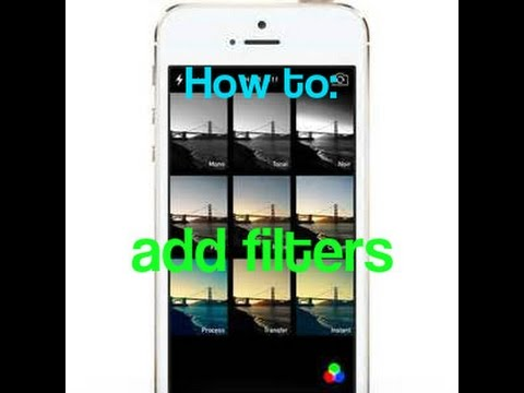 How to add filters to your iPhone 6 camera (easy version)