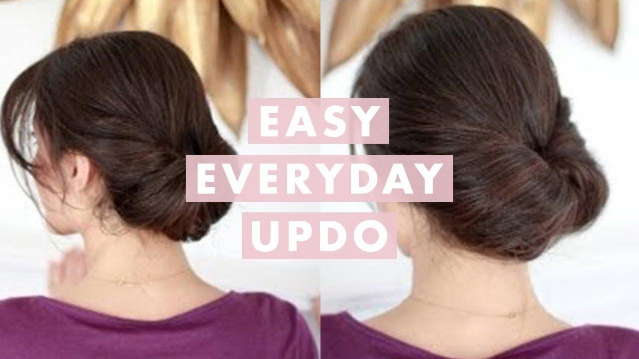 Easy Everyday Updo - YouTube