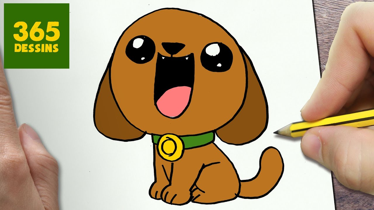 Comment dessiner chiot kawaii tape par tape dessins kawaii facile youtube - Dessin de petit chien ...