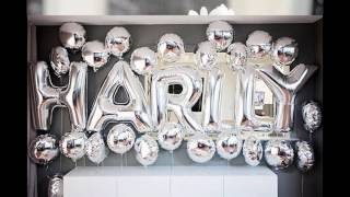Party themed decorating ideas black and white