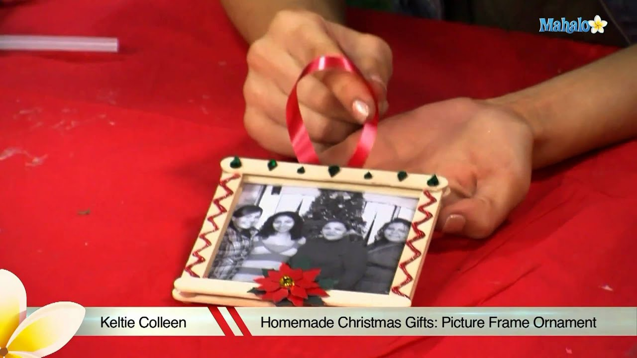 Homemade Christmas Gifts: Picture Frame Ornament - YouTube