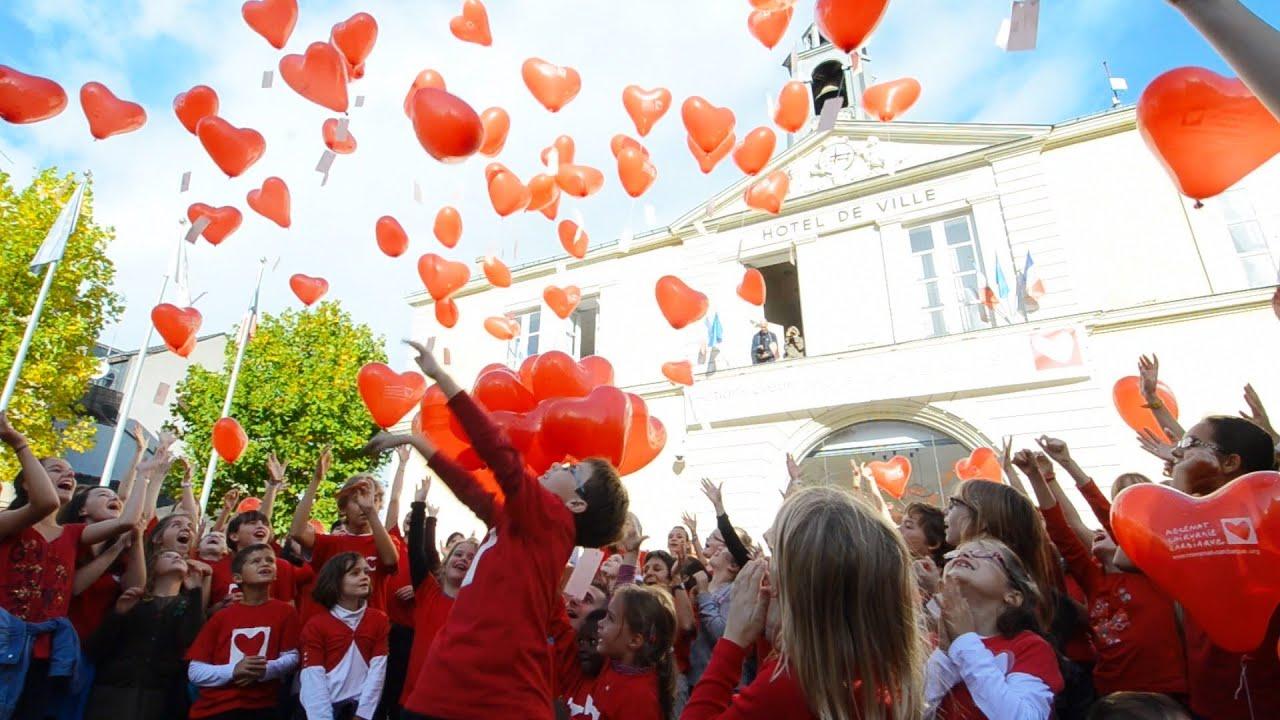 actions coeur chteaubriant lacher de ballons pour samba opr du coeur - Lacher De Ballons Mariage