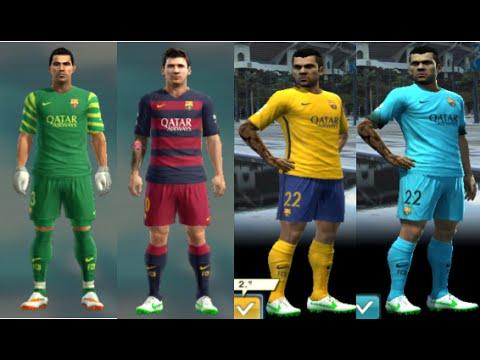 New Kit Oficial-Barcelona-Temporada-2015-2016-Pes 2013 Pc - YouTube