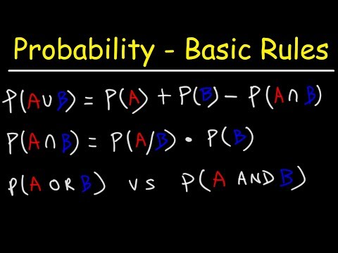 Multiplication & Addition Rule - Probability - Mutually Exclusive & Independent Events